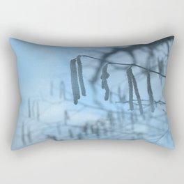 Blue branch Rectangular Pillow