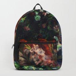 Auguste Renoir - Gladioli In A Vase Backpack