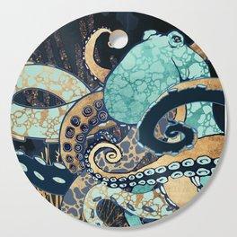 Metallic Octopus II Cutting Board