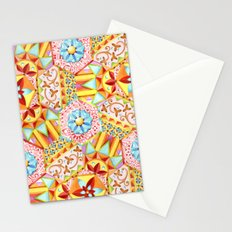 Pink Paisley Hexagons Stationery Cards