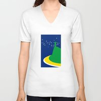 brazil V-neck T-shirts featuring BRAZIL by Marcus Wild