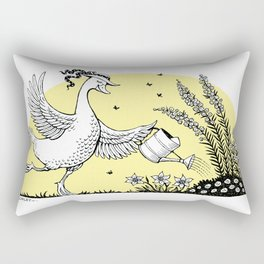 Garden Duck Rectangular Pillow