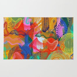 The Stipple Dots Abstract Rug
