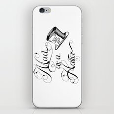 Alice in Wonderland Mad As A Hatter iPhone Skin