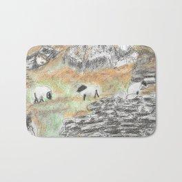 Sheep by the Wall Bath Mat
