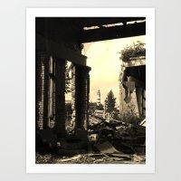 among the ruins Art Print