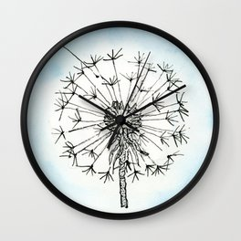 Dandelion Waiting for a Breeze Wall Clock