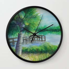 Dusk on the River MM160216h Wall Clock