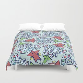 seamless pattern of stained glass Duvet Cover