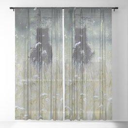 Nature Spirit - painting Sheer Curtain