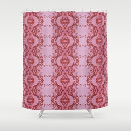 Red lace Shower Curtain