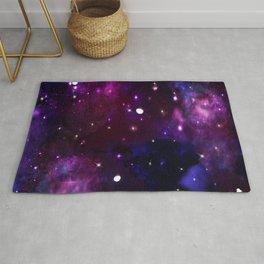 Midnight Blue Purple Galaxy Rug
