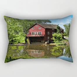 Old Red Grist Mill Rectangular Pillow