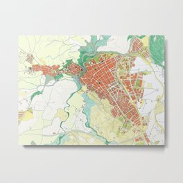Ronda city map classic Metal Print