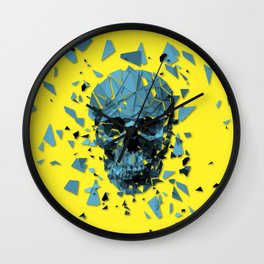 Exploded skull color Wall Clock