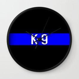 Police K-9 (Thin Blue Line) Wall Clock