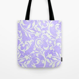 Shabby Chic purple damask Tote Bag