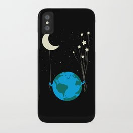 Under the moon and stars iPhone Case