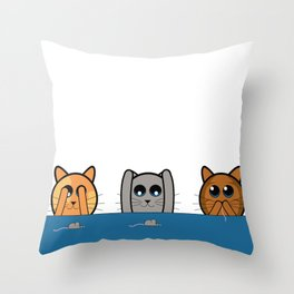 See no evil, Hear no evil, Speak no evil - Cats Throw Pillow