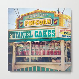 Funnel Cakes at the Carnival (Square) Metal Print