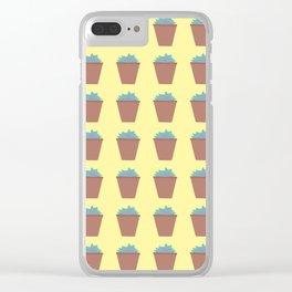 Succulent Love (Echeveria) Clear iPhone Case