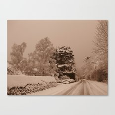 Snow in Windsor Canvas Print