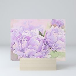Lavender Peonies Mini Art Print