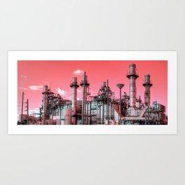 Refinery Panorama Art Print