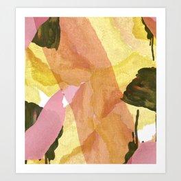 Olive and Orange Art Print