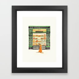Hungry dog at Paul Boulangerie, Paris Framed Art Print