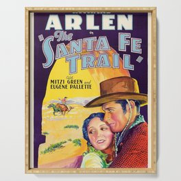 Classic Movie Poster - The Santa Fe Trail Serving Tray