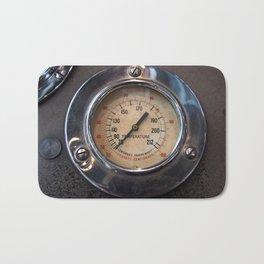 Heat - vintage industrial temperature gauge Bath Mat