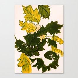 Hello fall, mustard yellow Canvas Print