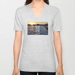 Sittin on the Dock of the Bay Unisex V-Neck