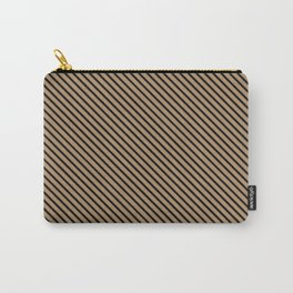Iced Coffee and Black Stripe Carry-All Pouch