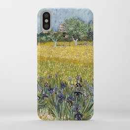 Field with flowers near Arles by Vincent van Gogh iPhone Case