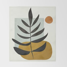 Soft Abstract Large Leaf Throw Blanket