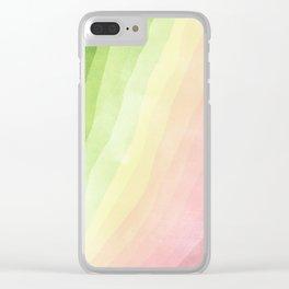 Stratum 8 Pastel Greenery Clear iPhone Case