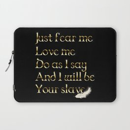 Just Fear Me (black bg) Laptop Sleeve