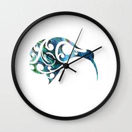 Kiwi Paua Wall Clock
