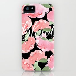 Blush Peony Blessed iPhone Case