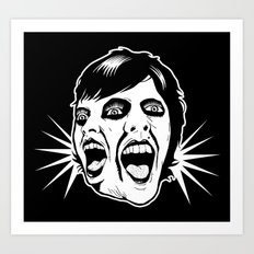 Screaming Queen Art Print
