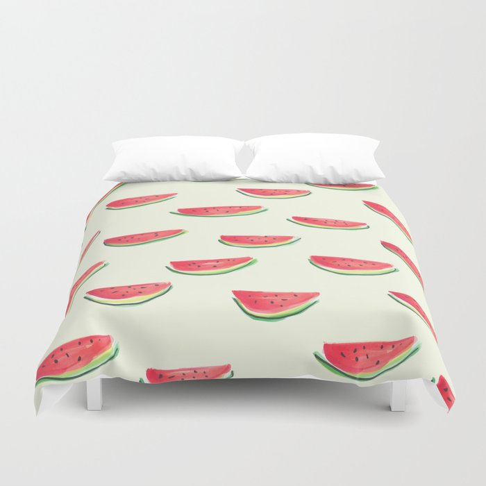 Watercolor Watermelon Duvet Cover