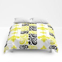 Fluer de Lis Custom Yellow Comforters