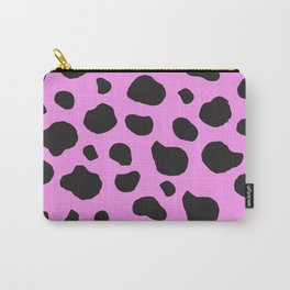 Animal Print (Cow Print), Cow Spots - Pink Black Carry-All Pouch