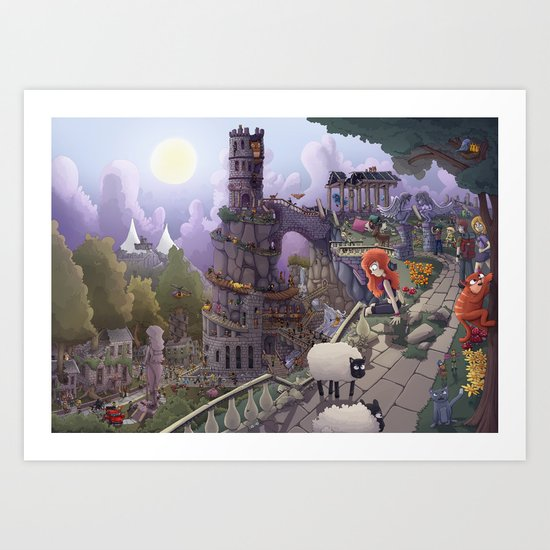 The Tower of Beezl Art Print