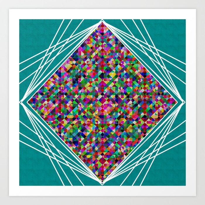 Diamond Knit Art Print