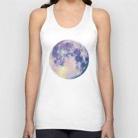 the moon Tank Tops featuring Moon by Marta Olga Klara