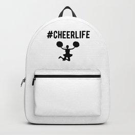 Hashtag Cheerlife Funny Cheerleader Graphic Backpack