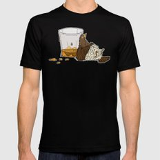 Thirsty Grouse - Colored with White Background X-LARGE Mens Fitted Tee Black